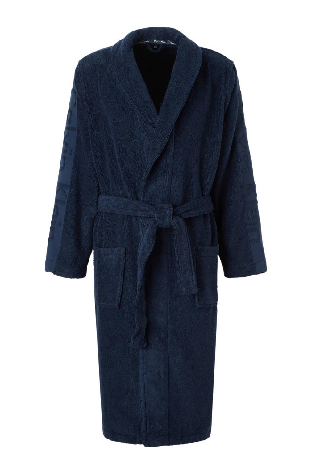 CALVIN KLEIN UNDERWEAR badstof badjas blauw, Blauw