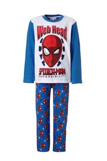 Spider-man pyjama blauw