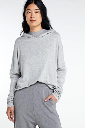 sweater met capuchon grijs mêlee