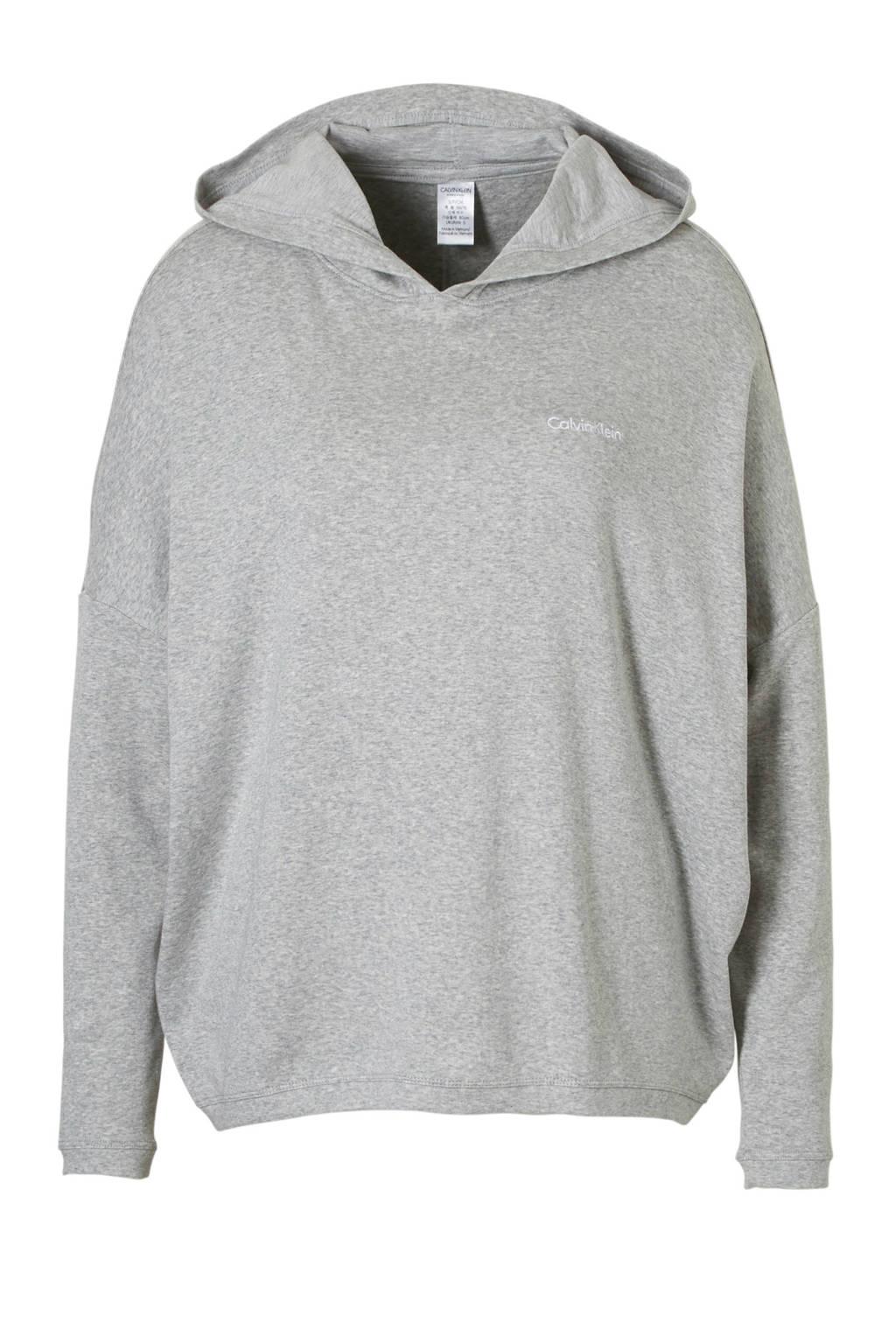 Calvin Klein sweater met capuchon grijs mêlee, grijs mêlee