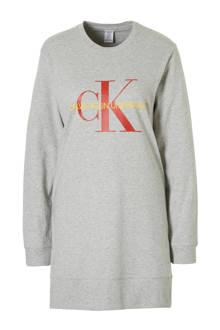 katoenen nachthemd met merknaam grijs