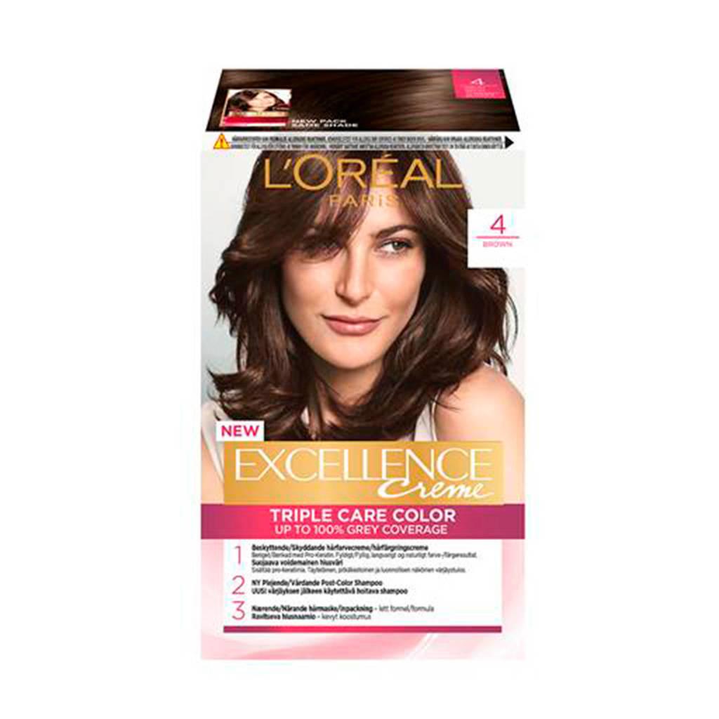 L'Oréal Paris Excellence Crème haarkleuring - 4 Middenbruin