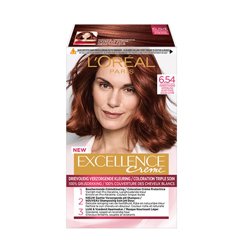 L'Oréal Paris Excellence Crème haarkleuring - 6.54 Donker Mahonie Koperblond