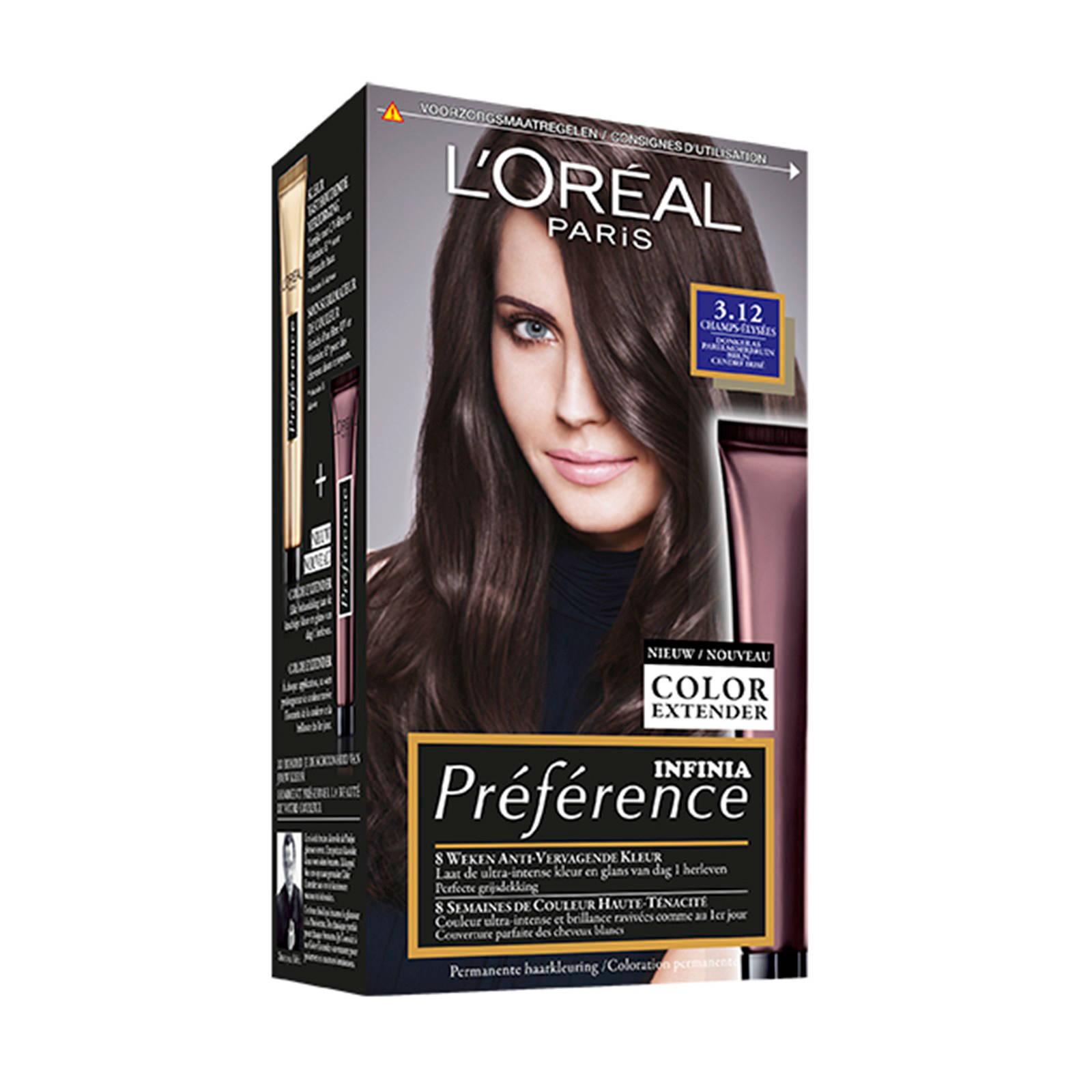L'Oréal Paris Préférence haarkleuring - 3.12 Champs-Élysées