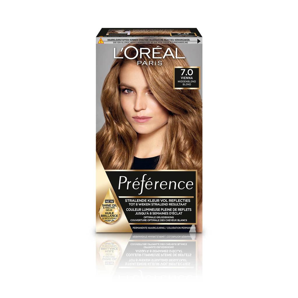 L'Oréal Paris Préférence haarkleuring - 7 Vienna, 7.0 Vienna