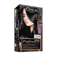 L'Oréal Paris Préférence haarkleuring - 1.07 Deep Black Pearl