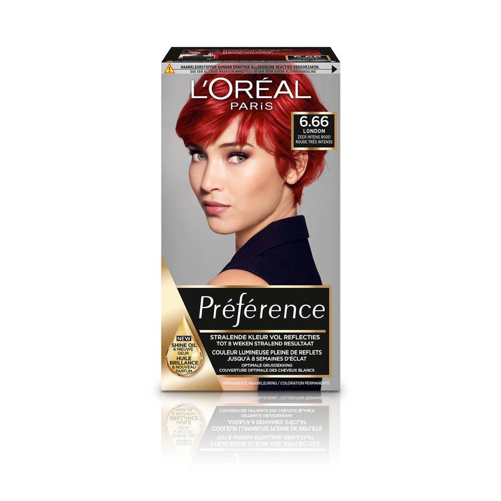 L'Oréal Paris Préférence haarkleuring - 6.66 Pure Scarlet