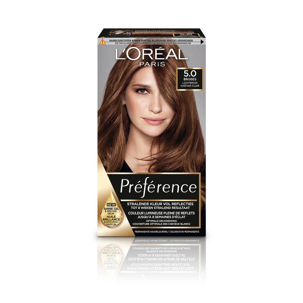 L'Oréal Paris Préférence haarkleuring - 5 Bruges, 5.0 Bruges