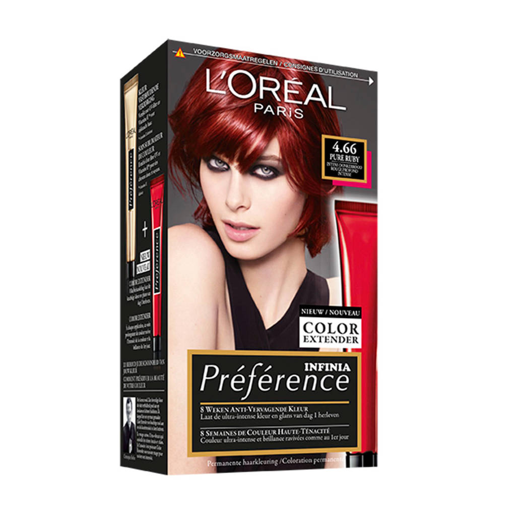L'Oréal Paris Préférence haarkleuring - 4.6 Pure Ruby, 4.66 Pure Ruby