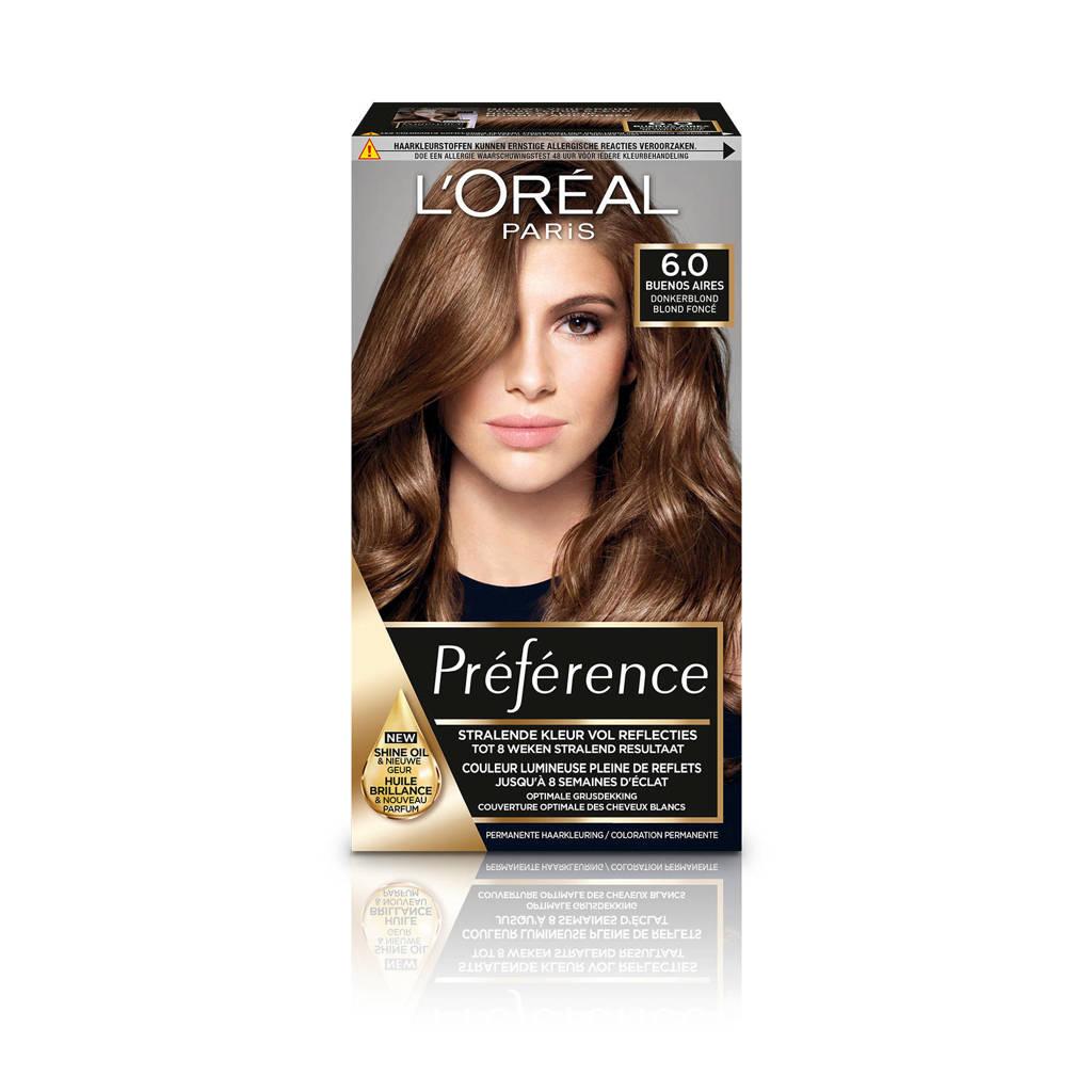 L'Oréal Paris Préférence haarkleuring - 6 Ombrie, 6.0 Ombrie
