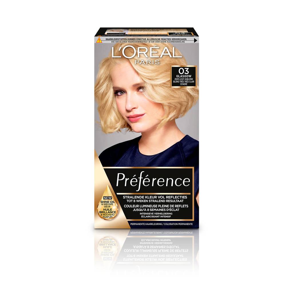 L'Oréal Paris Préférence Les Blondissimes haarkleuring - 03, 03 Super Licht Asblond