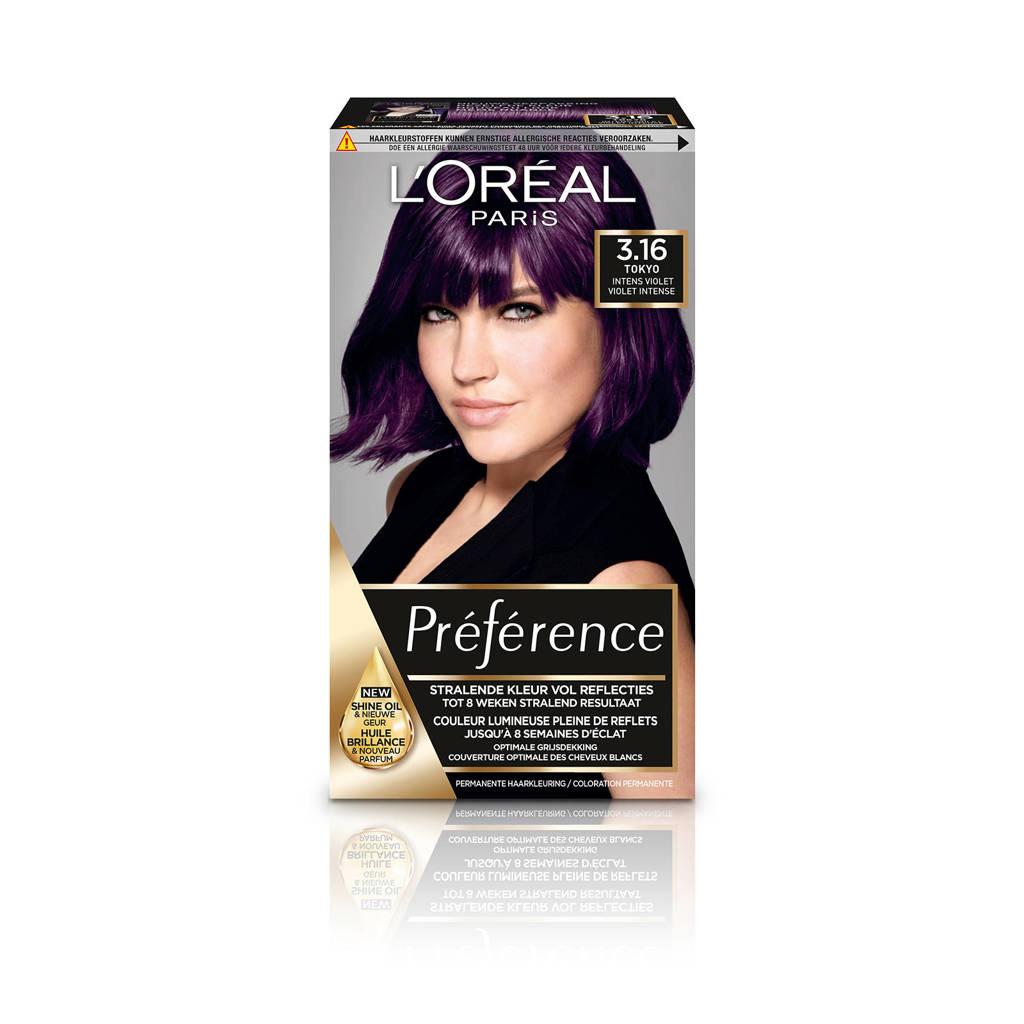 L'Oréal Paris Préférence haarkleuring - 3.16 Deep Purple