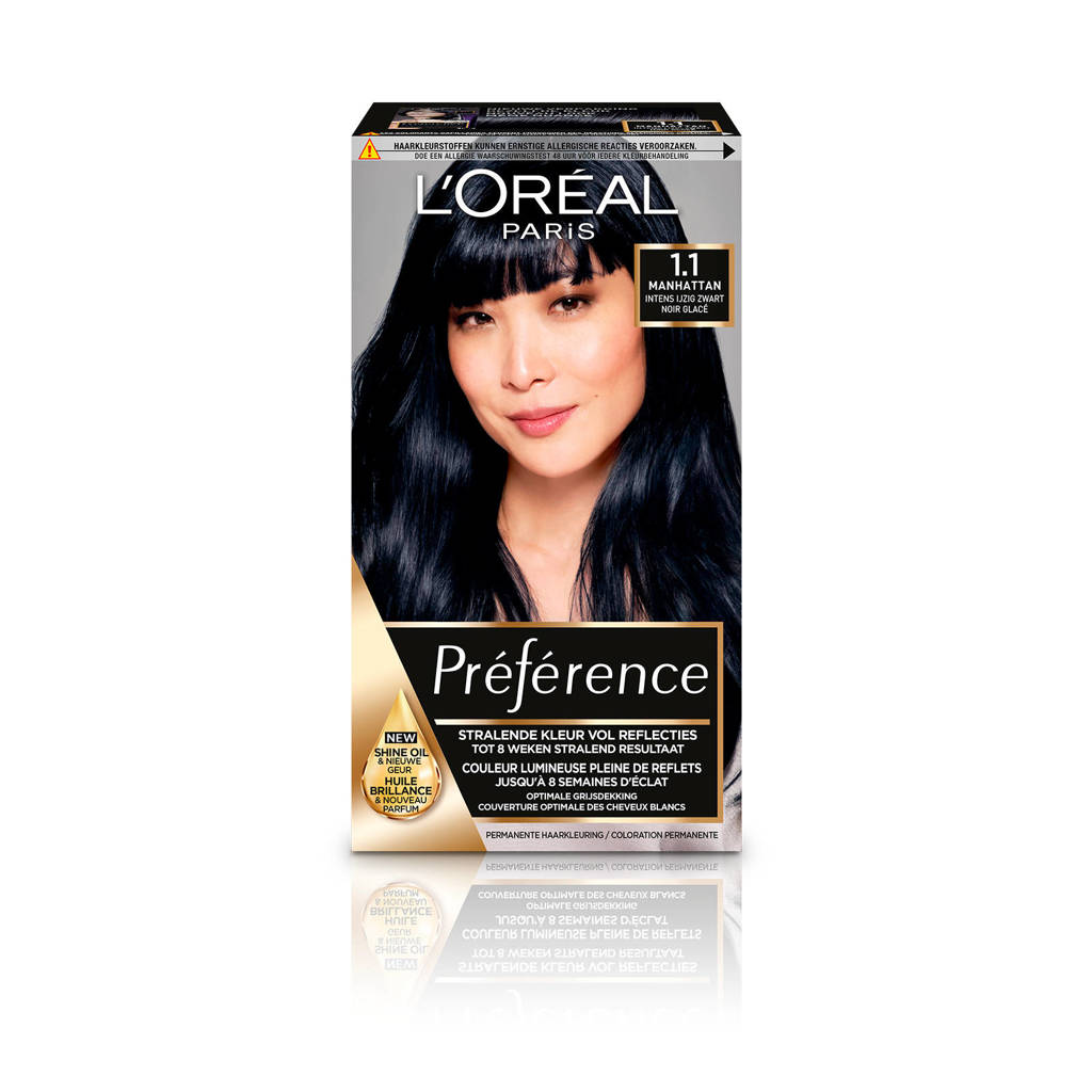 L'Oréal Paris Préférence haarkleuring - 1.1 Cool Black Pearl