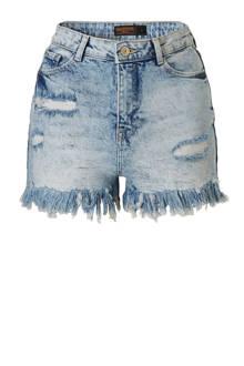 Clockhouse jeans short met hoge taile en slijtage