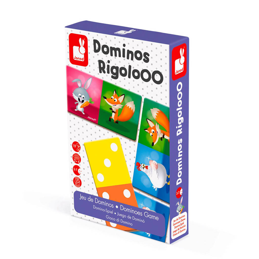 Janod domino rigoloo 28 tegels kinderspel