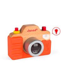 Janod houten speelgoedcamera met geluid