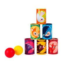 blikken gooien 6 stuks  kinderspel
