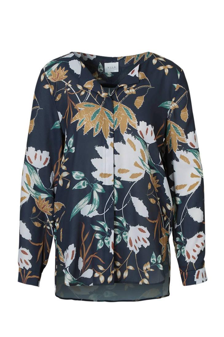 VILA over met print blouse all rABcSHr61