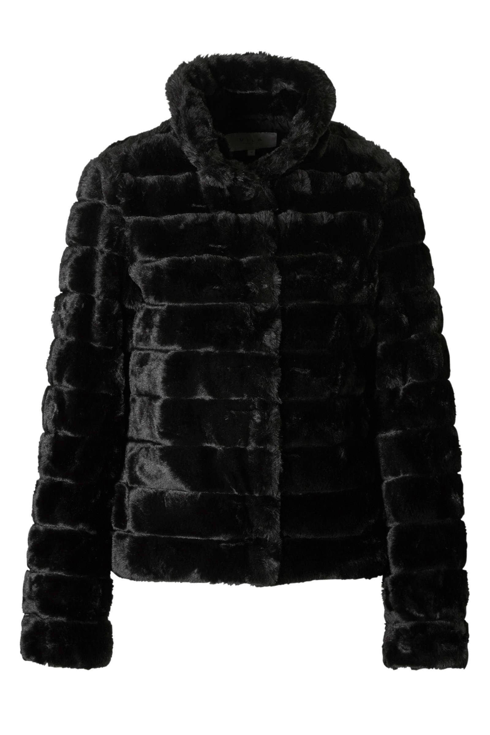 warme zwarte winterjas