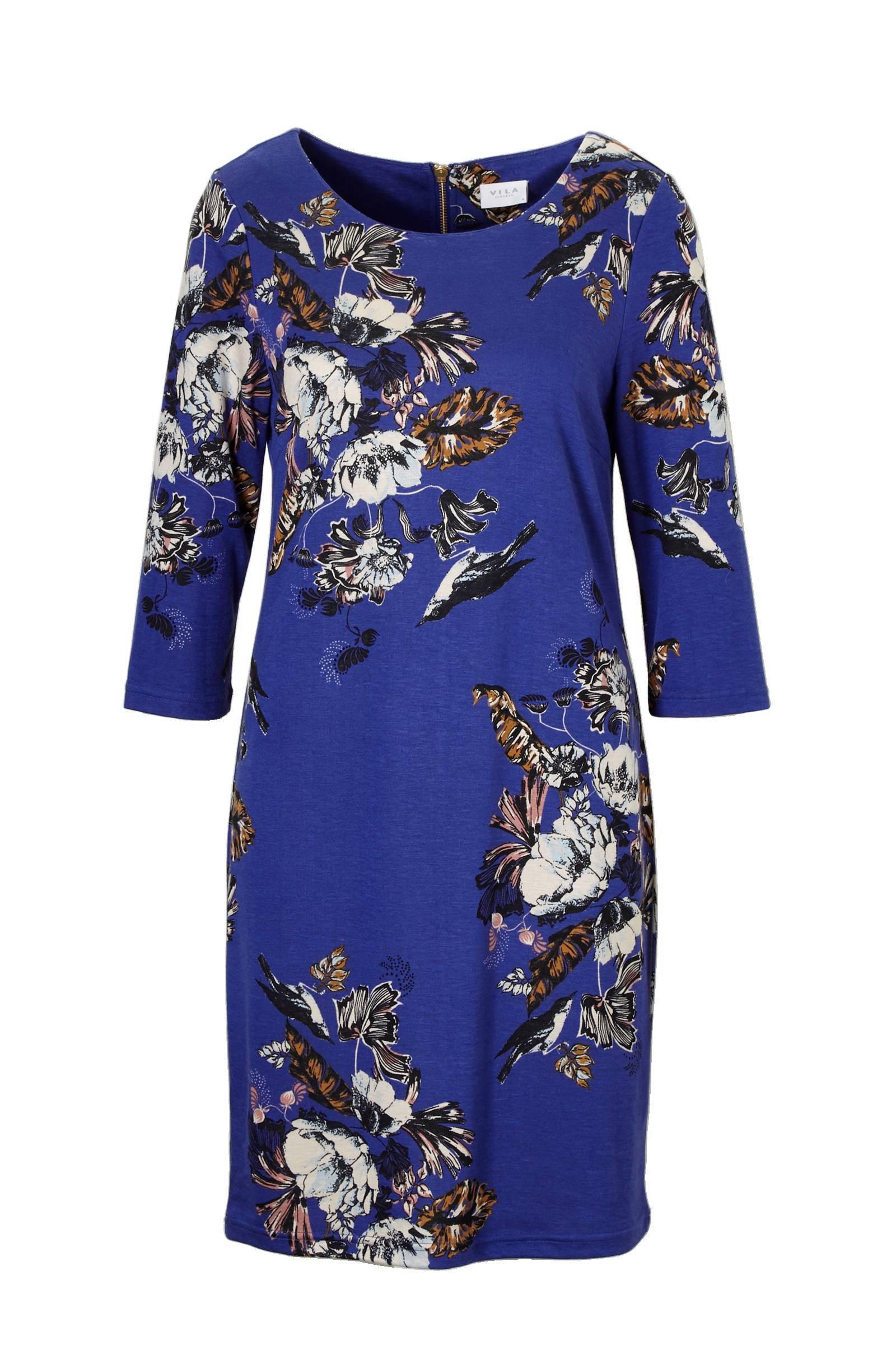 vila jurk blauw