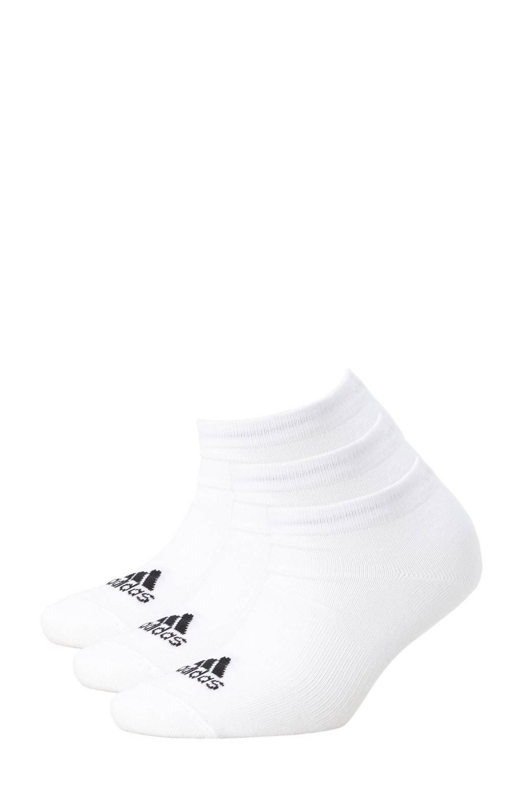 adidas performance sneakersokken, wit/ zwart