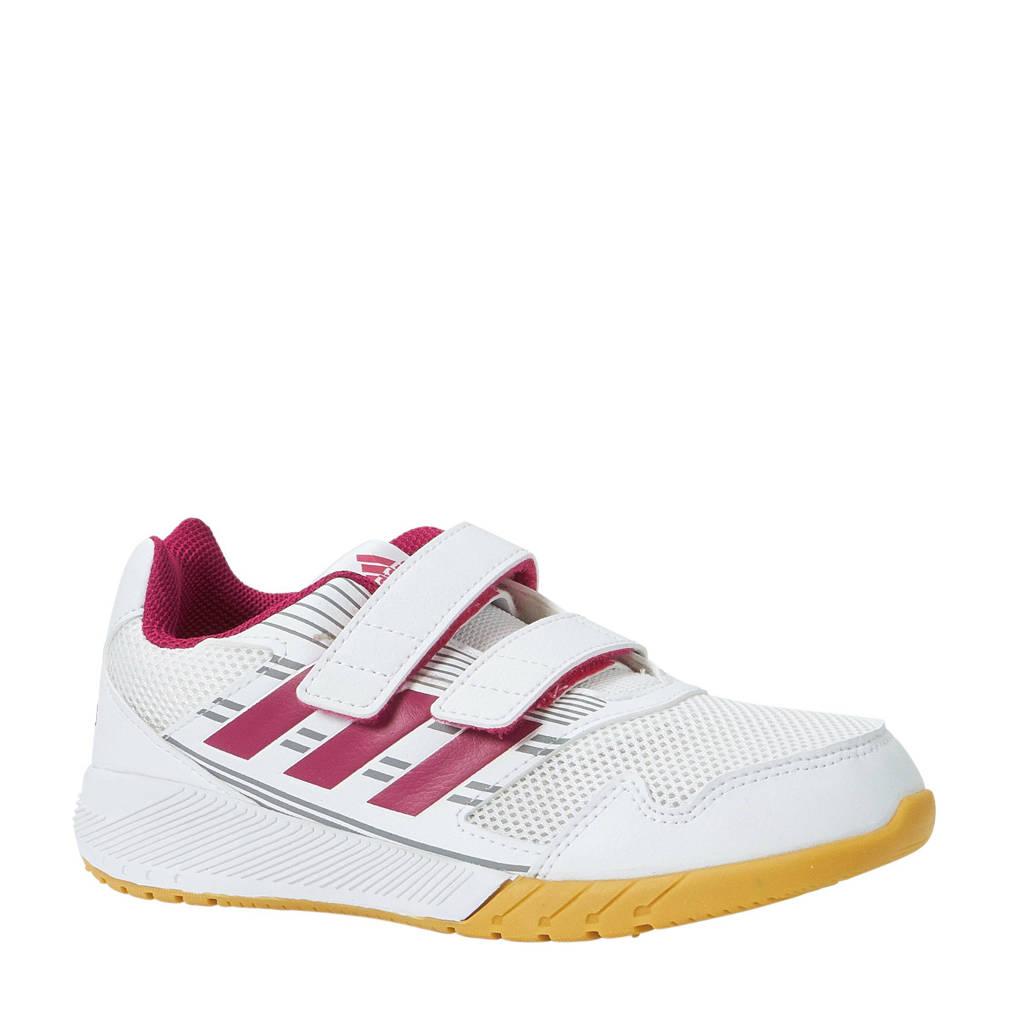 69f9338e865bbc adidas performance AltaRun CF K sportschoenen, Wit/roze/witte zool,  Klittenband