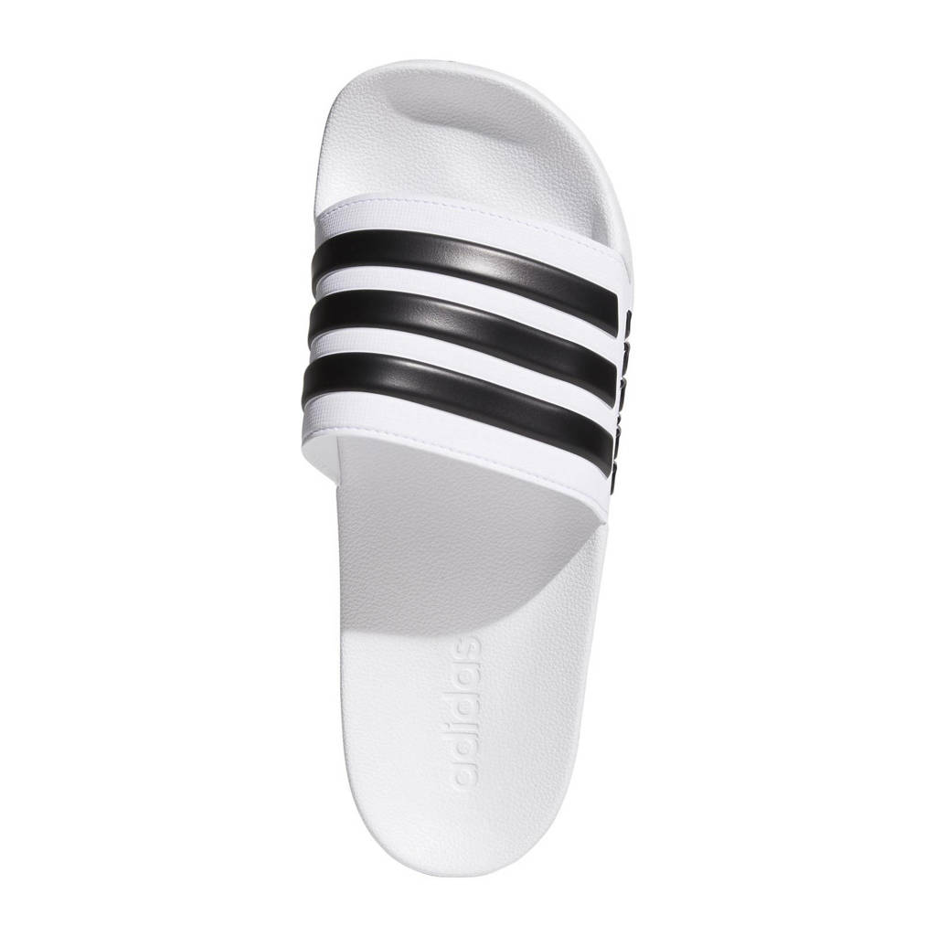 adidas Performance Adilette Shower badslippers wit/zwart, Wit/zwart