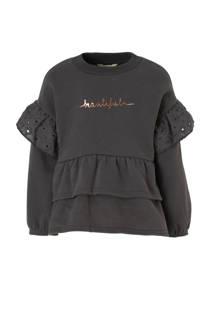 River Island sweater met tekstopdruk en ruches