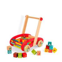 Janod houten ABC buggy