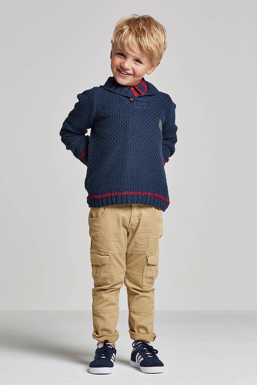 lief! trui met wol blauw, Donkerblauw
