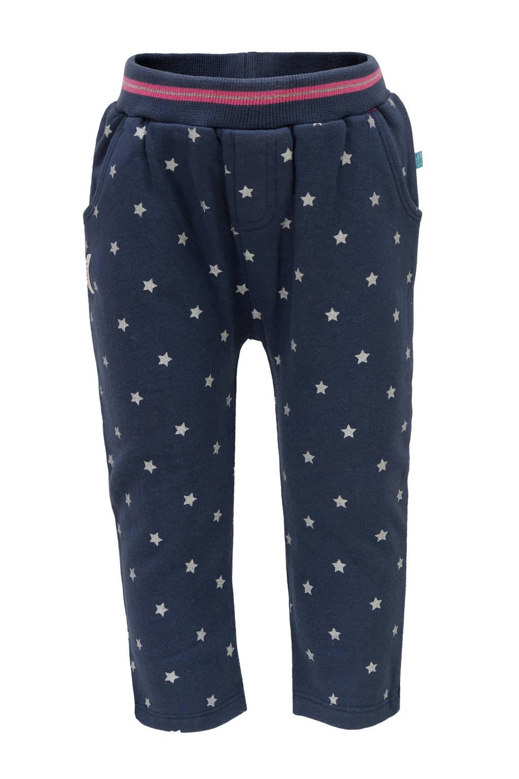 lief! joggingbroek met sterren blauw, Donkerblauw