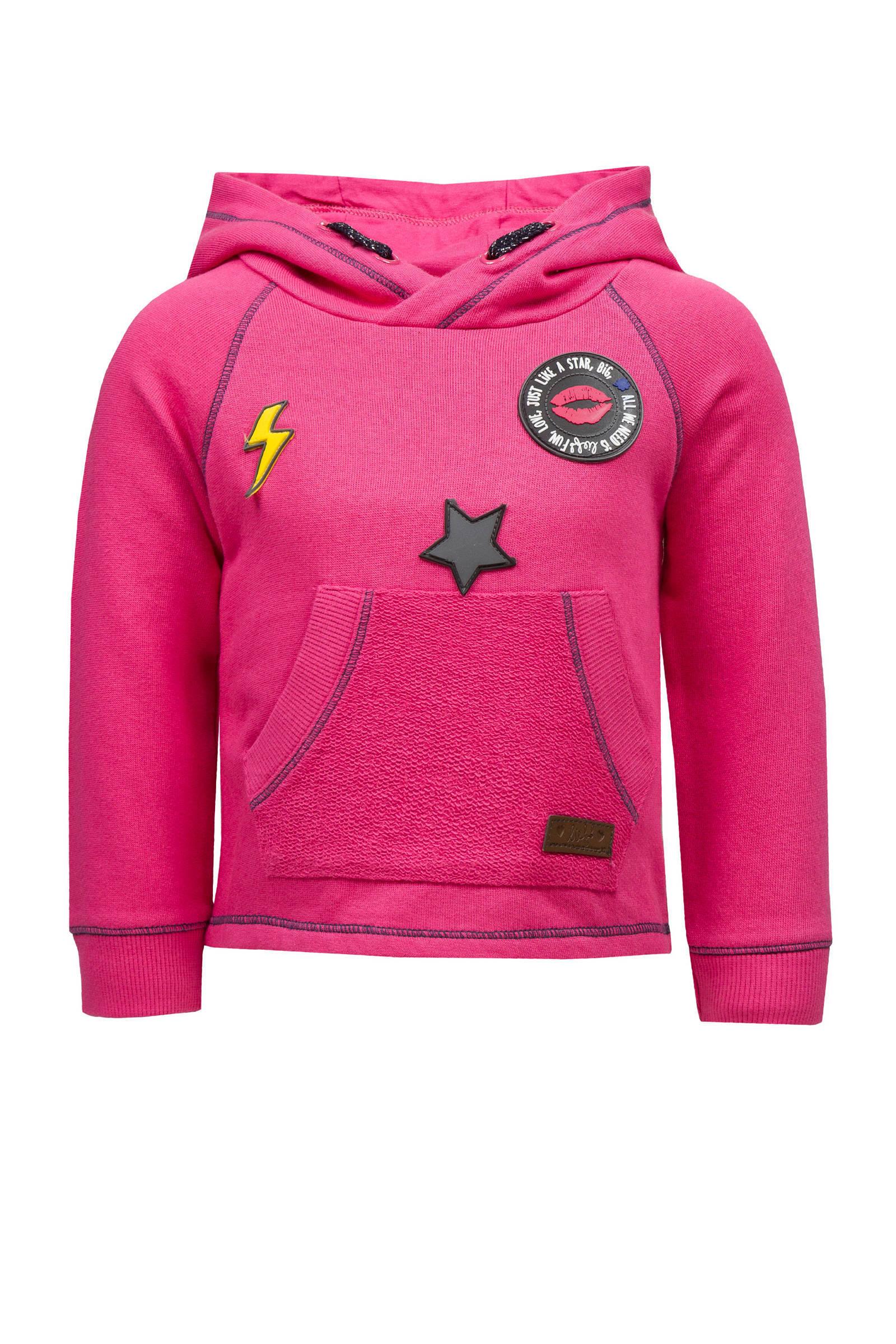 lief! trui met patches roze | wehkamp