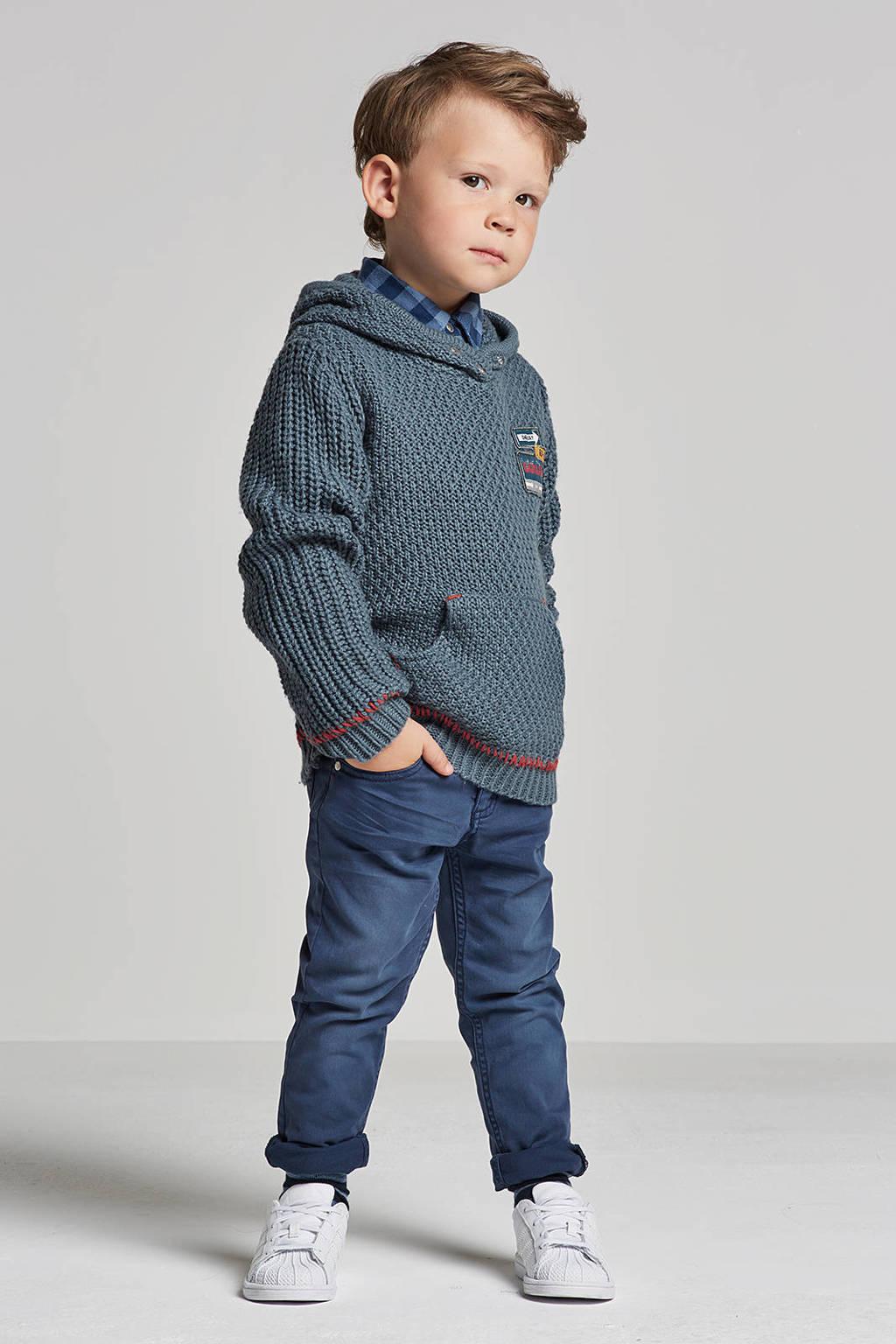 lief! trui met wol blauw, Grijsblauw