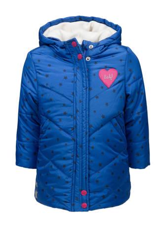 winterjas met sterren blauw