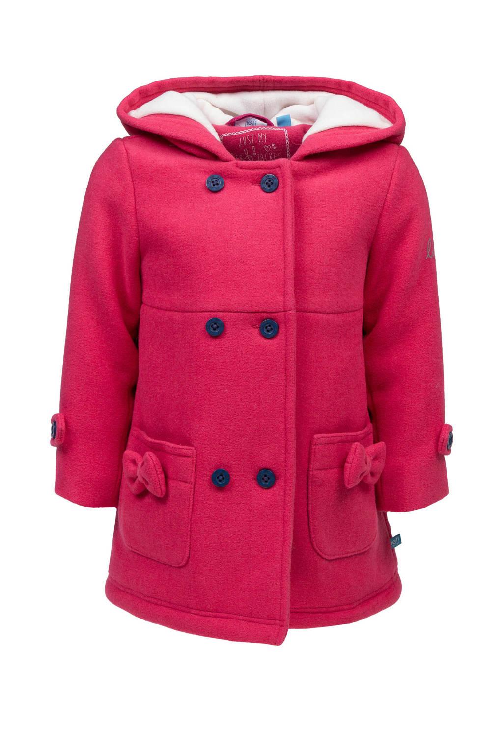 lief! winterjas met wol roze, Roze