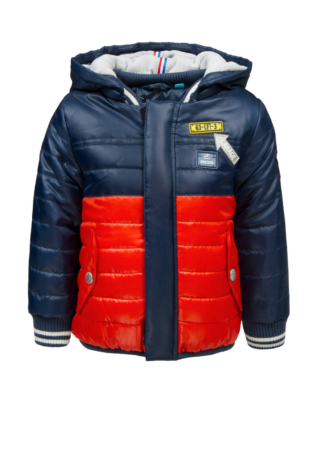 lief! winterjas blauw/rood, Donkerblauw/rood
