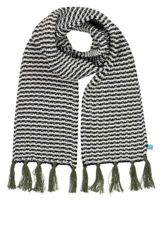 gestreepte sjaal blauw