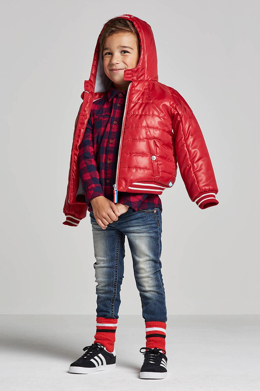 lief! winterjas rood, Rood/grijs/wit
