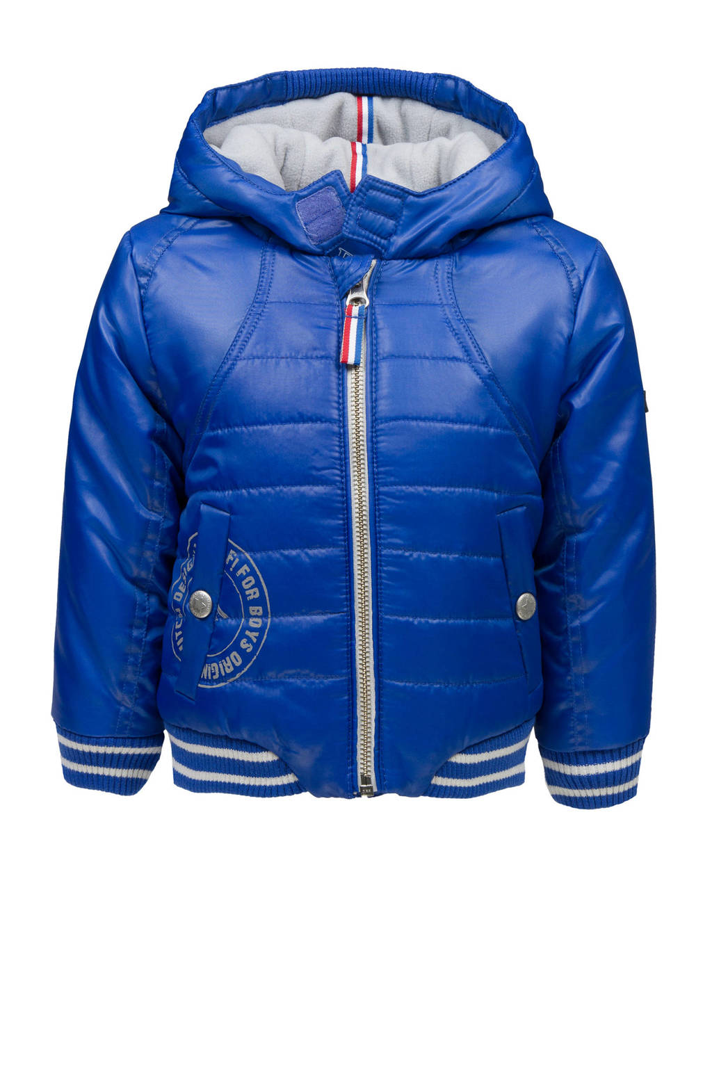lief! winterjas blauw, Blauw/grijs/wit