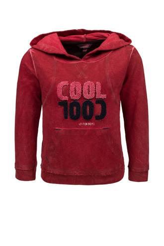 sweater met capuchon rood