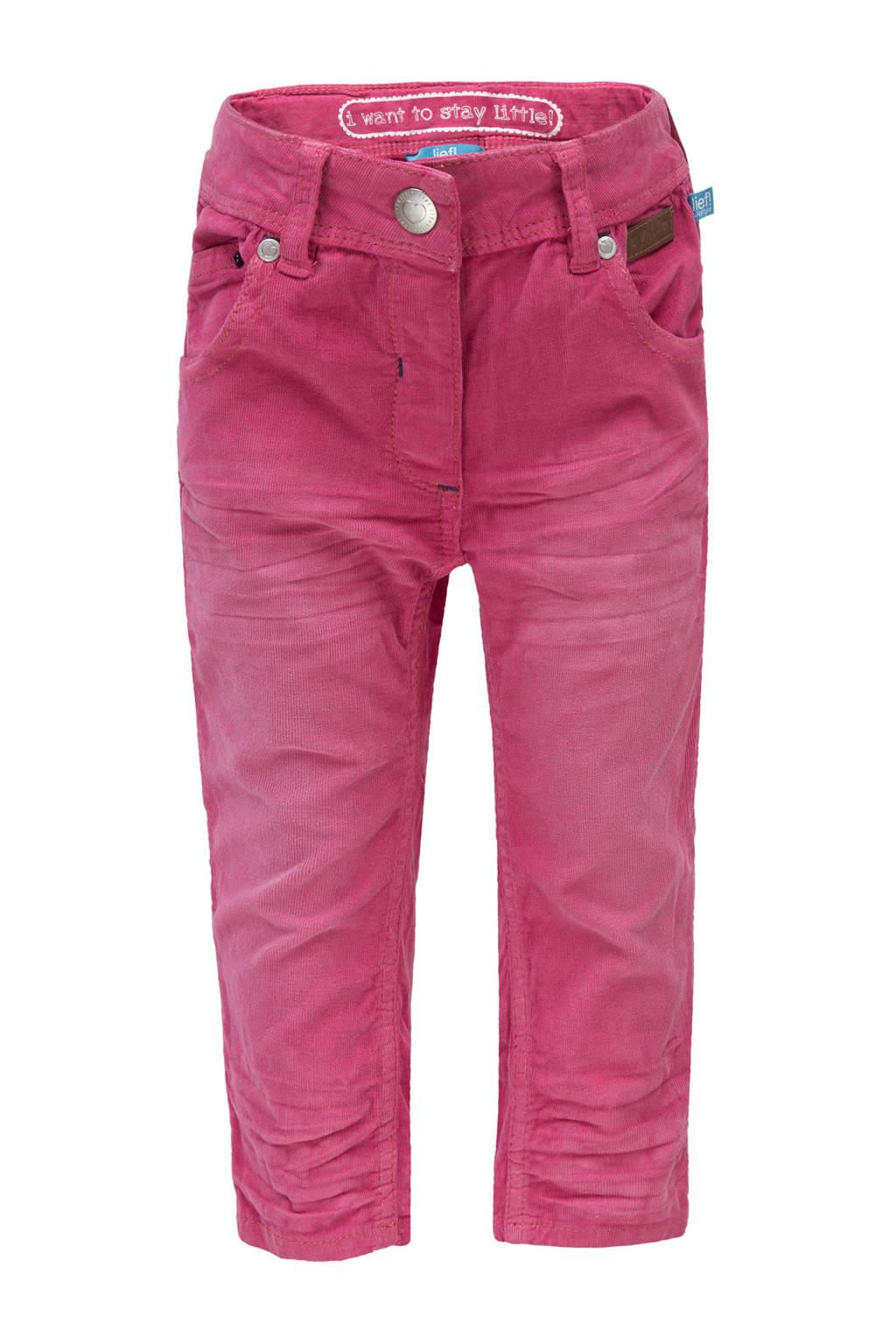 lief! corduroy broek roze, Roze