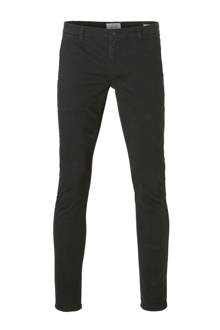 Tarp slim fit chino zwart