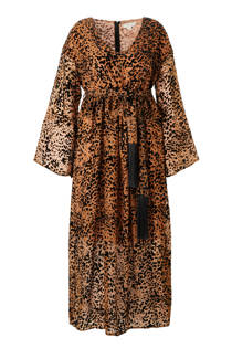 Lost Ink Plus jurk met luipaardprint