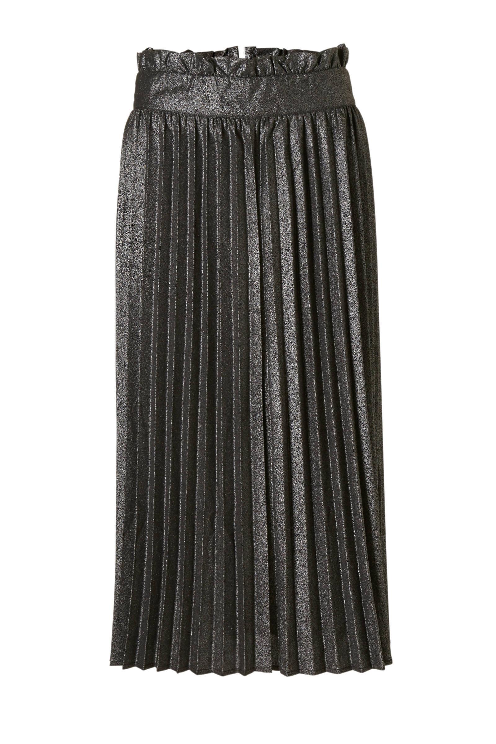 zwart wit gestreepte lange rok