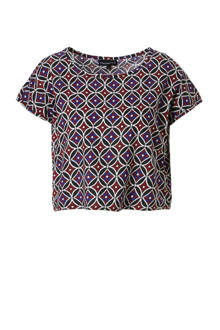 crop top met all over print