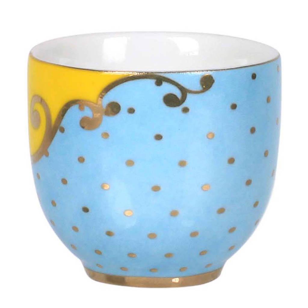 Pip Studio Royal eierdop (Ø4,8 cm), Blauw/geel/goud