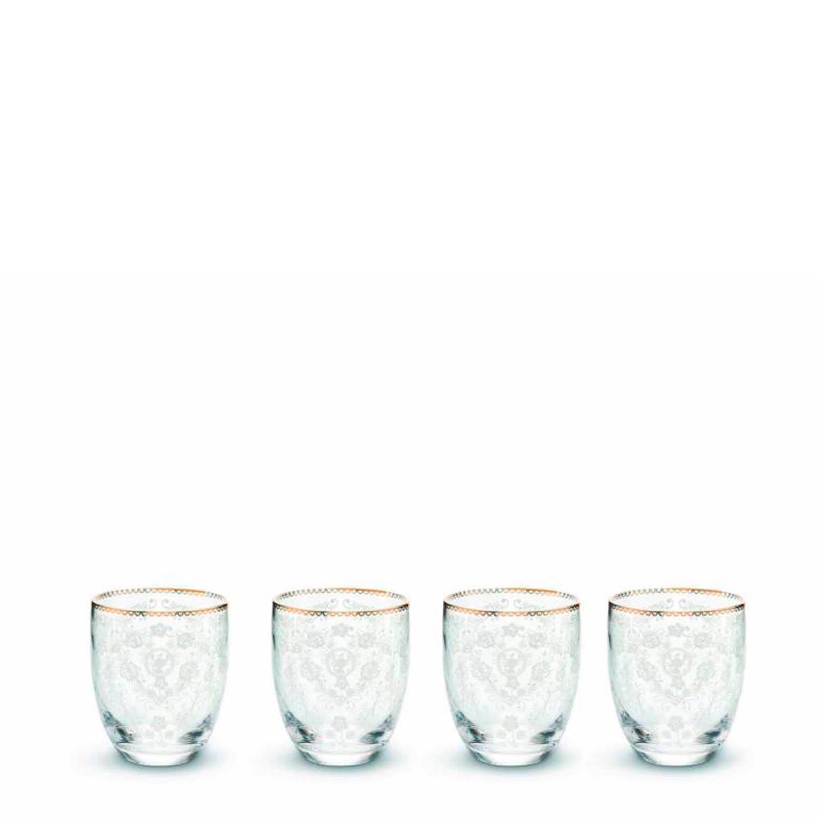 Pip Studio Floral waterglas (Ø8,6 cm) (set van 4)