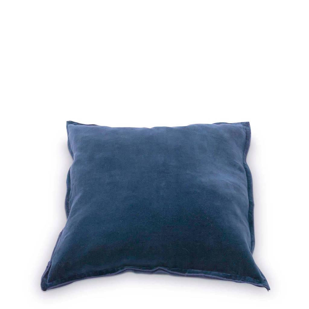 vtwonen sierkussen velours (45x45 cm), Blauw