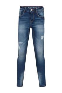 WE Fashion Blue Ridge super skinny jeans met slijtage (meisjes)