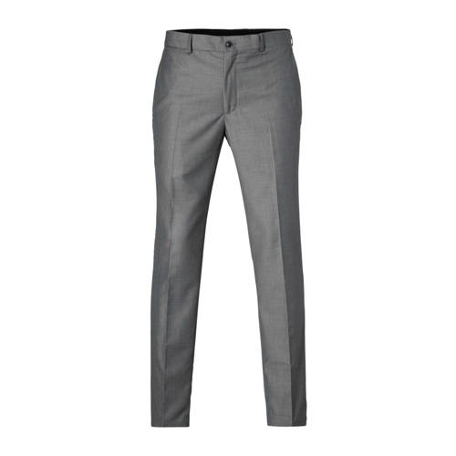 tailored fit pantalon lichtgrijs